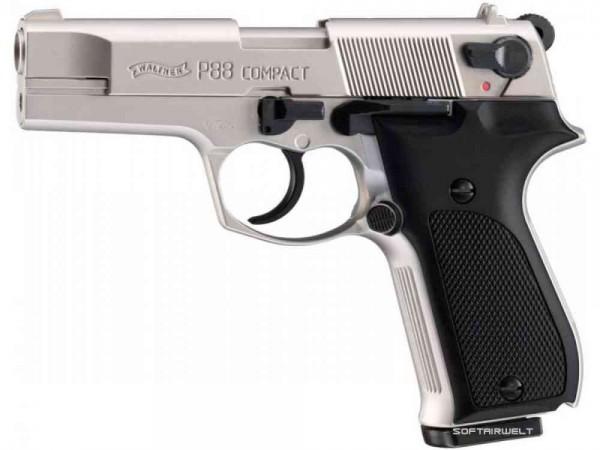 Schreckschußpistole Walther P 88 nickel 9mm P.A.Knall