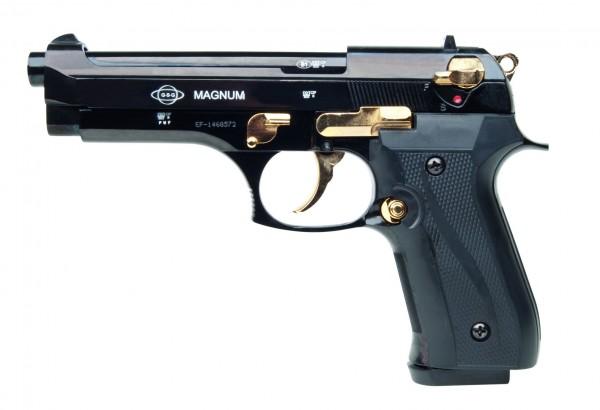 Schreckschußpistole Ekol Magnum schwarz/gold 9mm P.A.K.