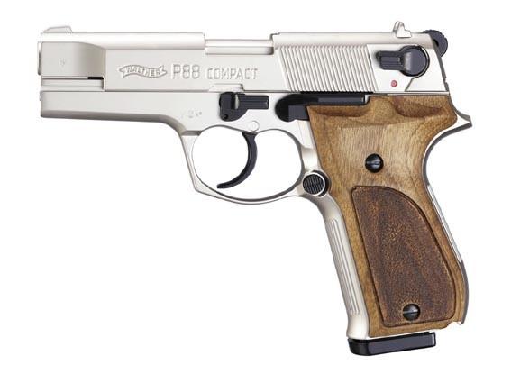 Schreckschußpistole Walther P 88 nickel/Hoz 9mm P.A.Knall