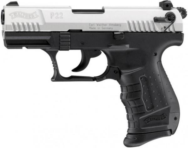 Schreckschußpistole Walther P 22 nickel 9mm P.A.K