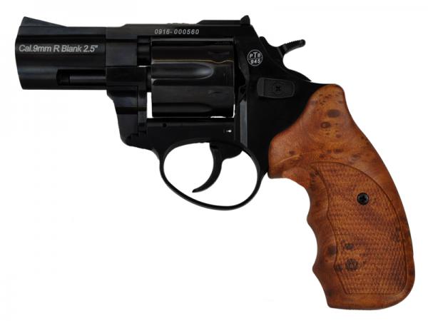 Schreckschußrevolver Zoraki R1 schwarz/Holzoptik 9mm