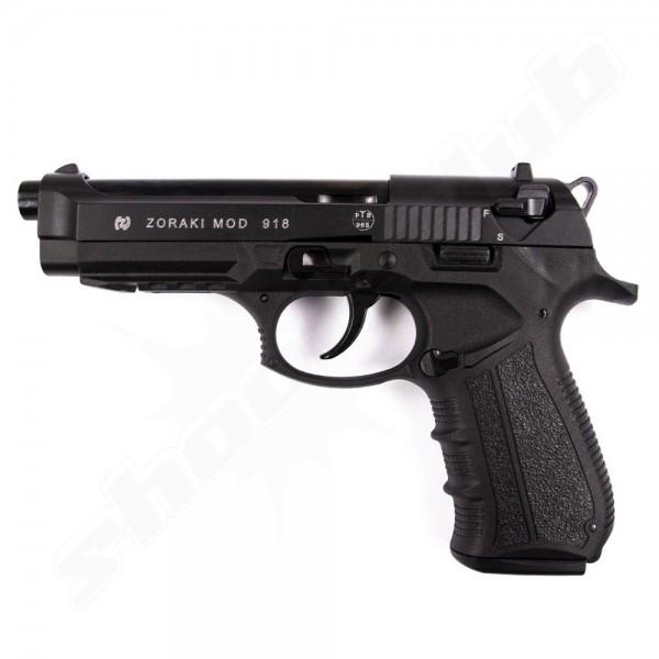 Schreckschußpistole Zoraki 918 brüniert Sparset