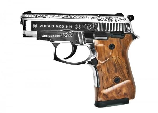 Schreckschußpistole Zoraki 914 Chrom/Gravur