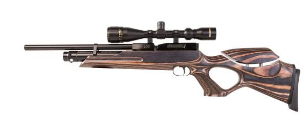 Weihrauch HW 100 T Preßluftgewehr Set Schichtholzschaft