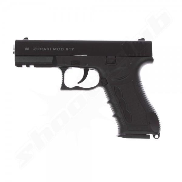 Schreckschußpistole Zoraki 917 brüniert Sparset