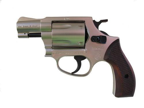 Schreckschussrevolver Weihrauch HW 37 stainless-Holzgriff 9mm knall
