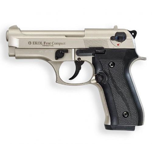 Schreckschußpistole Ekol Compact nickel 9mm P.A.K.